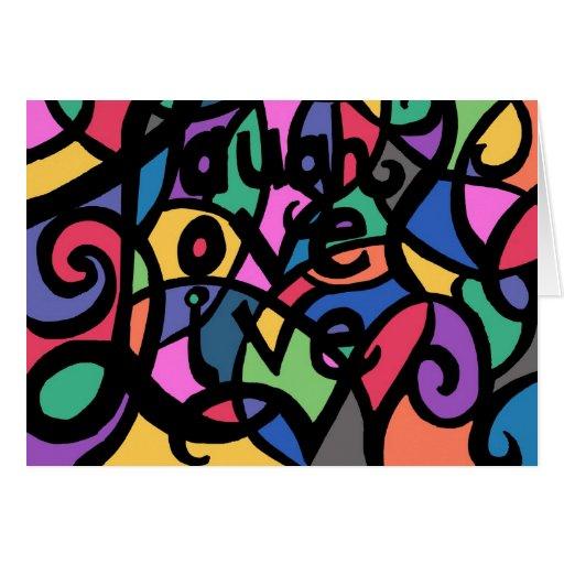 Risa, amor, (añada su propio texto) tarjeta viva