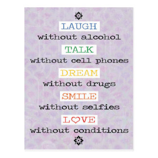 Risa, charla, sueño, sonrisa, postal del amor