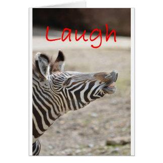 risa de la cebra tarjeta