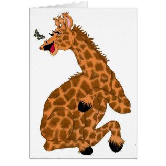 Risa de la jirafa tarjeta