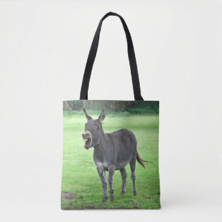Risa del burro por todo bolso de la impresión