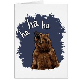 Risa del oso tarjeta de felicitación