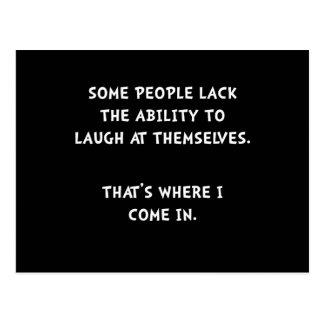 Risa ellos mismos postal