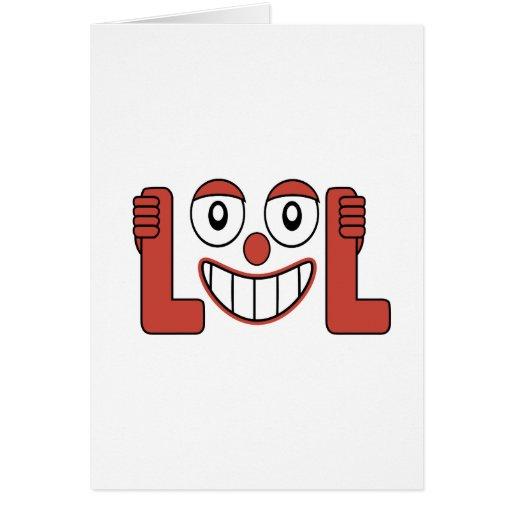 Risa hacia fuera del ejemplo ruidoso felicitacion