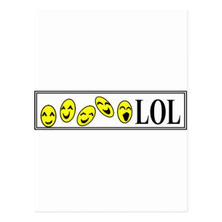 risa hacia fuera ruidosamente postal