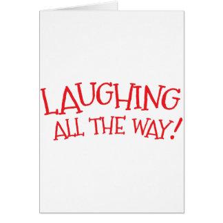 Risa hasta el final tarjeta