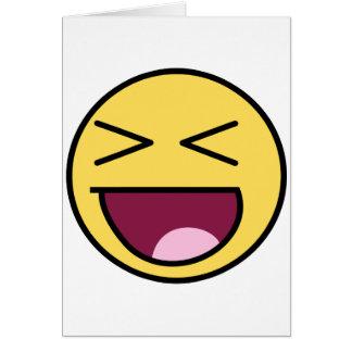 risa impresionante de la cara tarjetas