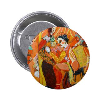 Risa - pintura del payaso chapa redonda de 5 cm