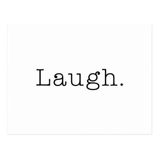 Risa. Plantilla blanco y negro de la cita de la ri Tarjeta Postal