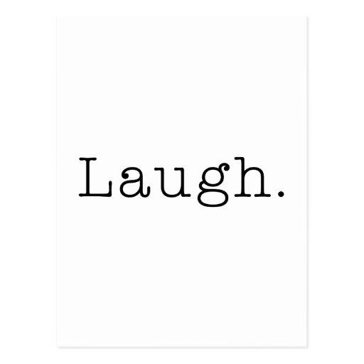 Risa. Plantilla blanco y negro de la cita de la Postal