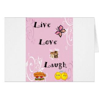 Risa viva del amor tarjeta de felicitación