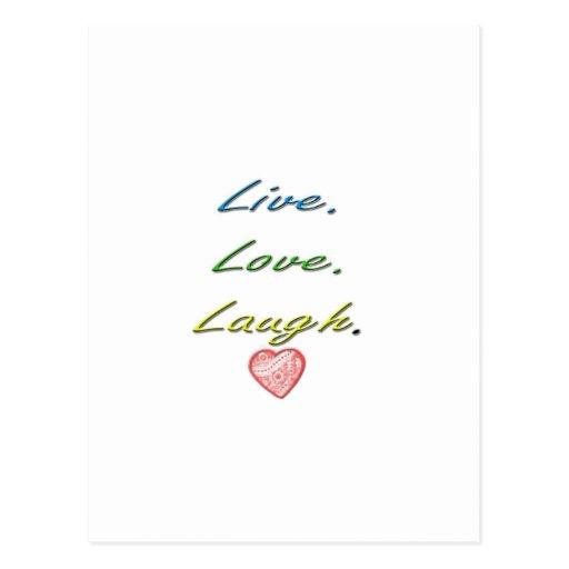Risa viva del amor tarjetas postales
