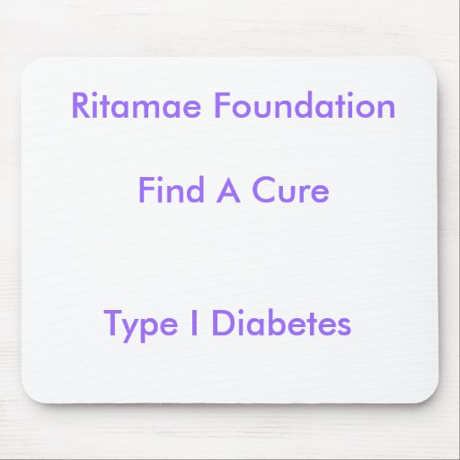 Ritamae FoundationFind una curación, tipo diabetes Alfombrillas De Raton