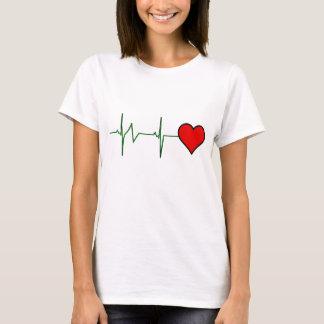 Ritmo cardíaco camiseta