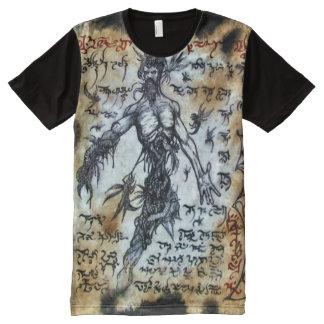 Ritual de Magick del demonio de Necronomicon Camisetas Con Estampado Integral
