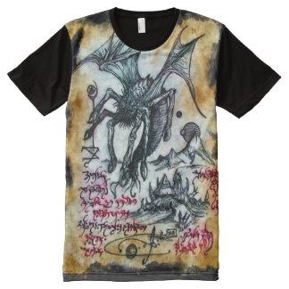 Ritual Magick del demonio de Necronomicon Cthulhu Camiseta Con Estampado Integral