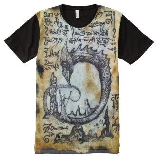 Ritual Magick del gusano del demonio de Camisetas Con Estampado Integral
