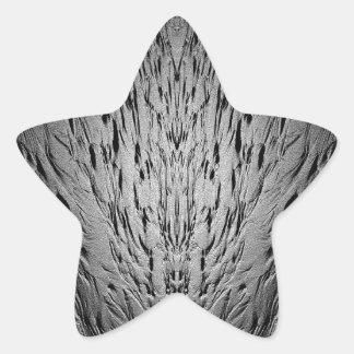 Rivulets en una playa arenosa pegatina en forma de estrella