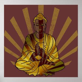 Riyah-Li diseña el vintage Buda Impresiones