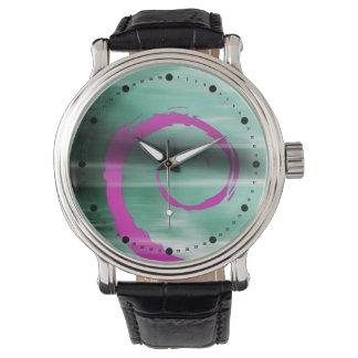 Rizo abstracto de Marbelized (violeta del trullo) Relojes De Pulsera