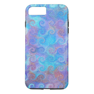 Rizos azules del mar funda iPhone 7 plus