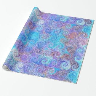 Rizos azules del mar papel de regalo