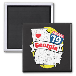 Roadtrip '19 Georgia - imán del cuadrado