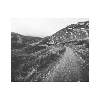Roadtrip en la impresión blanco y negro de la foto
