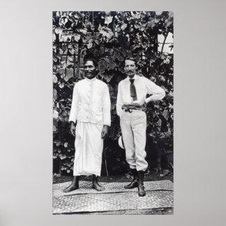 Robert Louis Stevenson y su amigo Póster
