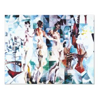 Roberto Delaunay la ciudad de París Invitacion Personalizada