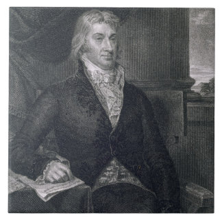 Roberto R. Livingston, grabado por E. Mackenzie (e Teja Cerámica