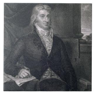 Roberto R. Livingston, grabado por E. Mackenzie (e Azulejo Cuadrado Grande