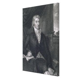 Roberto R. Livingston, grabado por E. Mackenzie (e Impresión En Lona Estirada