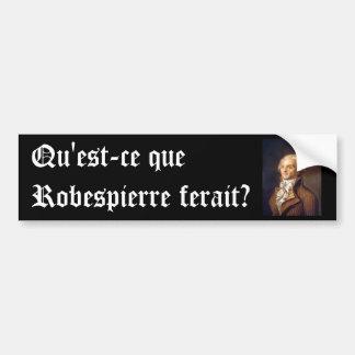 Robespierre (subtítulo francés) pegatina para coche