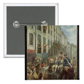 Robespierre y Santo-Apenas Chapa Cuadrada 5 Cm