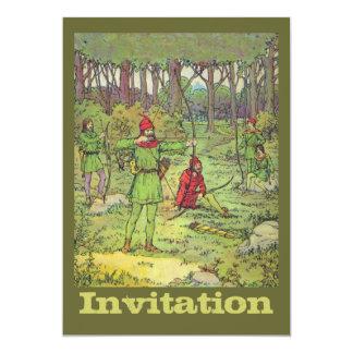 Robin Hood en el bosque Invitación 12,7 X 17,8 Cm