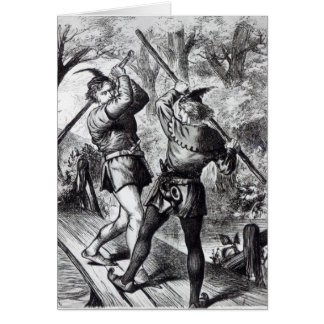 Robin Hood y pequeño Juan Tarjeta