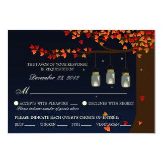 Roble RSVP (opciones de las luciérnagas del tarro Invitación 8,9 X 12,7 Cm