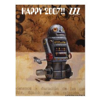 ¡ROBOT2 2007 FELIZ!!  ZZZ TARJETA POSTAL