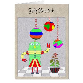 Robot de Feliz Navidad Felicitacion