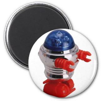 Robot de la conclusión del vintage imán redondo 5 cm