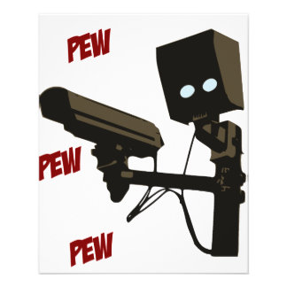 Robot del arma del radar de laser del banco del folleto 11,4 x 14,2 cm