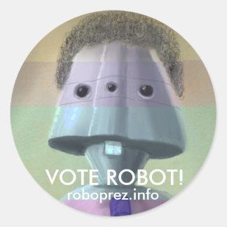 ¡Robot del voto! - Pegatina grande Chuck10.1