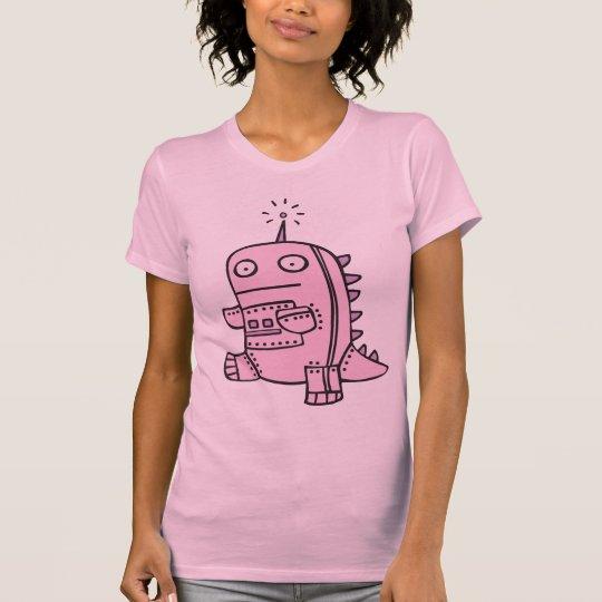 Robot Dino - rosa Camiseta