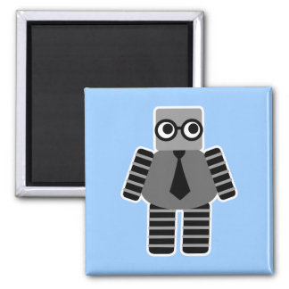 Robot elegante imán cuadrado