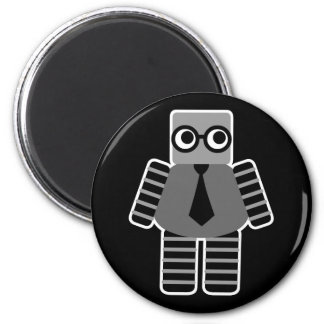 Robot elegante imán redondo 5 cm