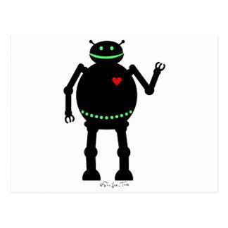 Robot feliz gordo postal