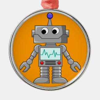 Robot Freak Adorno Navideño Redondo De Metal