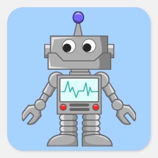 Robot Freak Colcomanias Cuadradass
