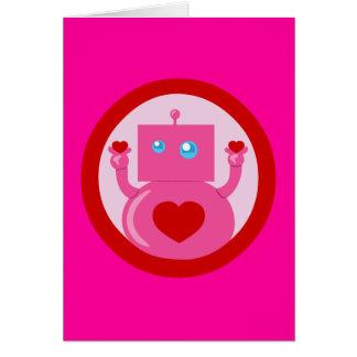 Robot lindo del amor felicitaciones